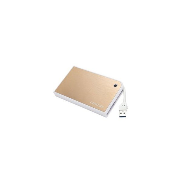 Century MOBILE BOX USB3.0接続 SATA6G 2.5インチHDD/SSDケース (CMB25U3GD6G)