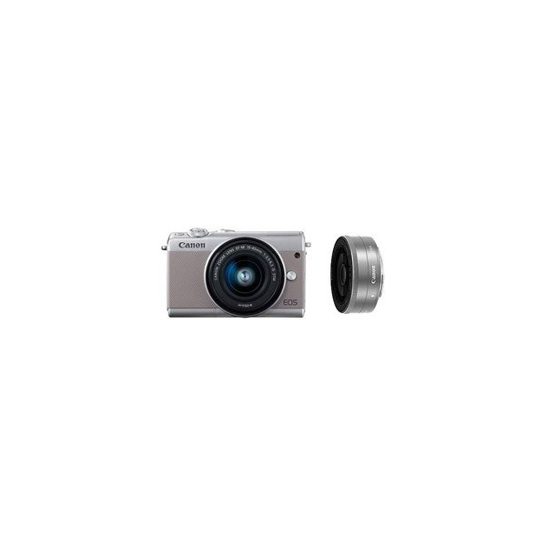 キヤノン(Canon) EOS M100 ダブルレンズキット グレー [キヤノンEF-Mマウント] ミラーレス一眼カメラ