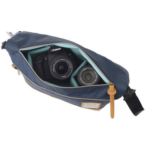 ビアンキ カメラショルダーバッグ クラッチトートL(ネイビー) EBPI-08NV