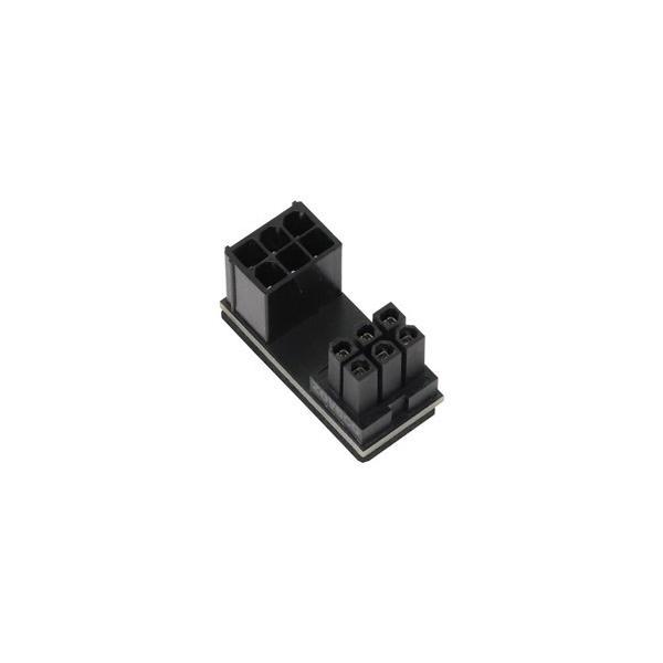 アイネックス PCI Express用電源変換アダプタ C字型 6ピン下ラッチ用  ブラック PX-PCIE6CI