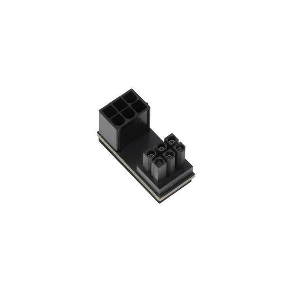 アイネックス PCI Express用電源変換アダプタ C字型 6ピン上ラッチ用  ブラック PX-PCIE6CO