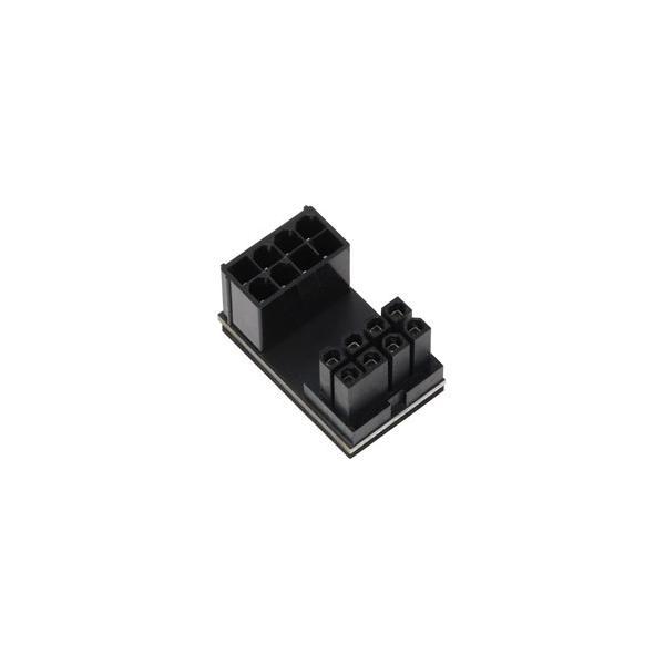 アイネックス PCI Express用電源変換アダプタ C字型 8ピン下ラッチ用  ブラック PX-PCIE8CI