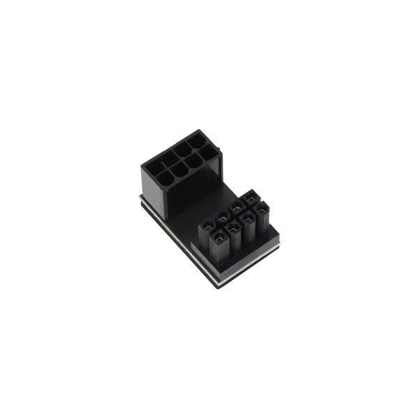 アイネックス PCI Express用電源変換アダプタ C字型 8ピン上ラッチ用  ブラック PX-PCIE8CO