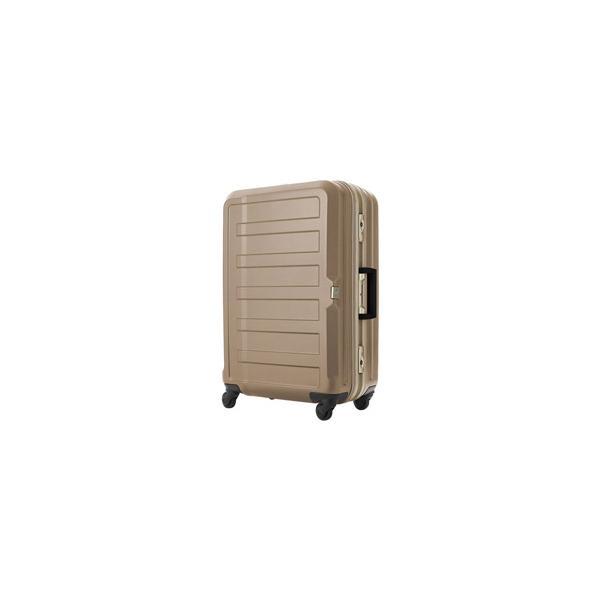 レジェンドウォーカー TSAロック搭載スーツケース 三層構造PC100%シボ加工ボディ フレームキャリー シャンパンゴールド 5088-68-CGD 【85L(7泊以上) 5.2kg】