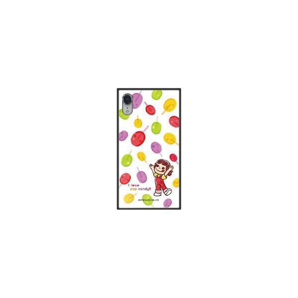 藤家 iPhone XR 6.1 不二家 ガラスハイブリッド F. ポップキャンディ GHP7050BKF