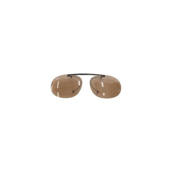 関眼鏡 偏光クリップオンサングラス(ライトブラウン)