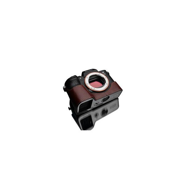 GARIZ SONY α9/α7R III/α7 III 兼用 本革カメラケース XS-CHA7M3BRO ブラウン