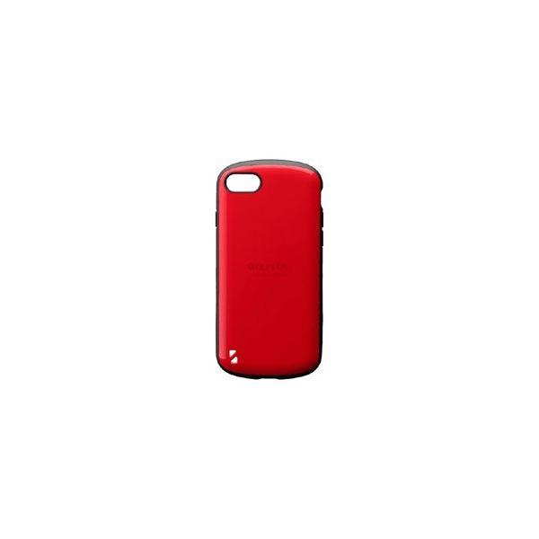 MSソリューションズ iPhone 8用 耐衝撃ハイブリッドケース PALLET レッド LEPLUS LP-I7SHVCRD