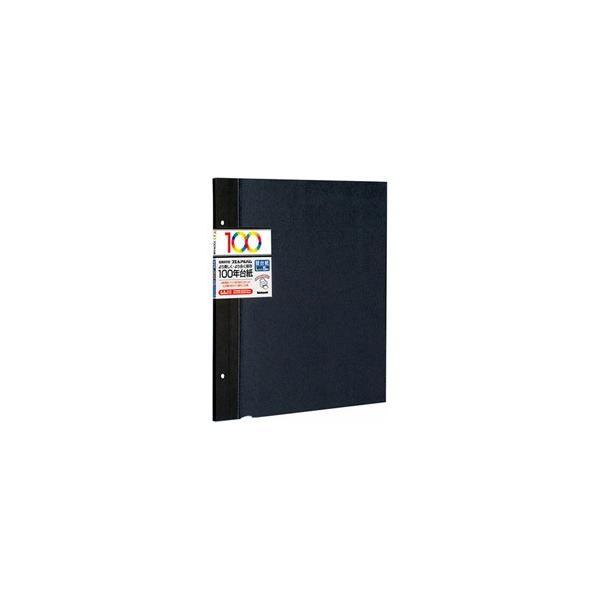 ナカバヤシ アH-LFR-5-D 100年台紙 Lサイズ5枚入り (ブラック)の画像