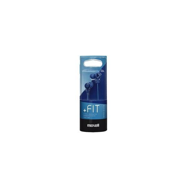 日立マクセル カナル型イヤホン +FiT (ダークブルー) MXH-C110DB 1.2mコード