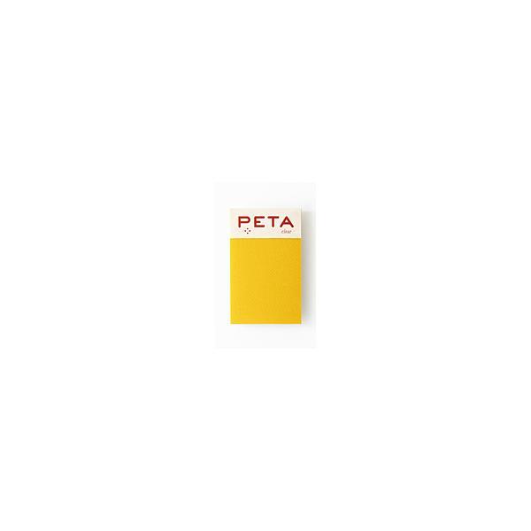 PCM竹尾 全面のり付箋 PETA clear S レモン 1736168