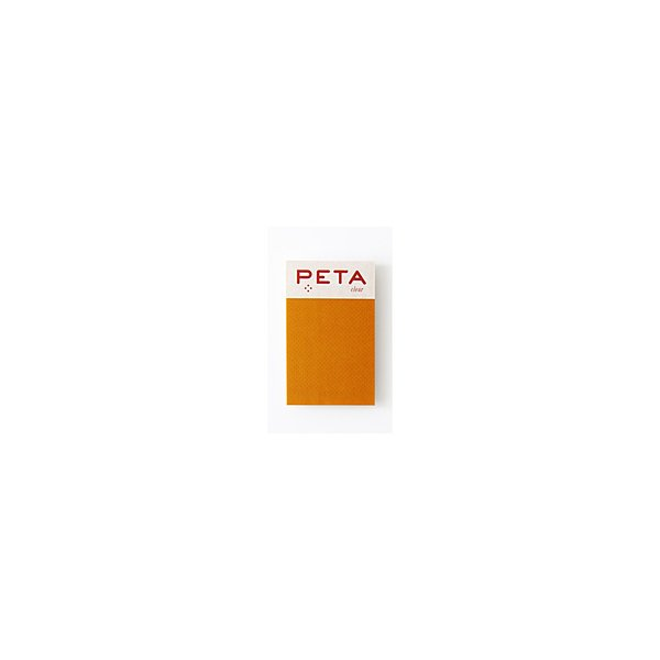 PCM竹尾 全面のり付箋 PETA clear S マンゴー 1736176