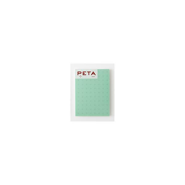 PCM竹尾 全面のり付箋 PETA clear L グリーン クロス ライン 1736366