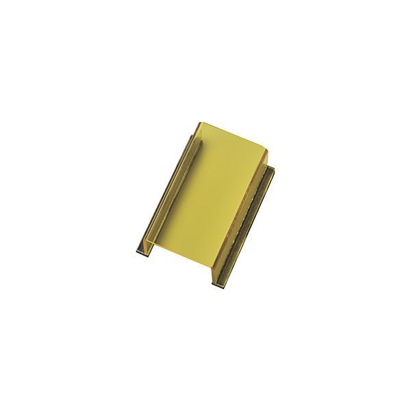 日本緑十字 緑十字 スイッチカバー標識 透明黄無地タイプ 80×40×34mm アクリル製
