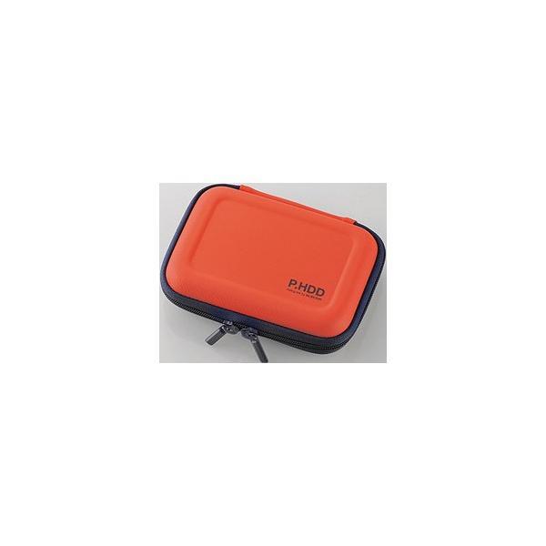 エレコム HDC-SH001DR ポータブルHDDケース(セミハード/オレンジ)