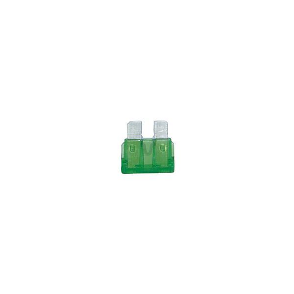 小糸製作所 ブレードヒューズ 30A ハウジングカラー:緑色 (1箱/10個入り)   F3080