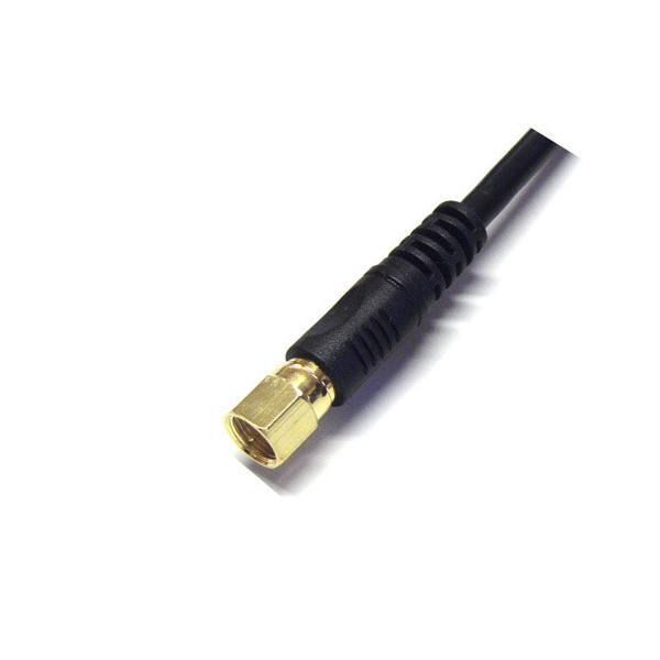 フジパーツ Fuji Parts 4K8K衛星放送対応 1mアンテナケーブル黒(L型プラグ-F型接栓) FBT-310-48 FBT-310-48