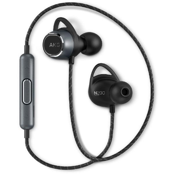 AKG ブルートゥースイヤホン カナル型 AKGN200BTBLK ブラック [Bluetooth]