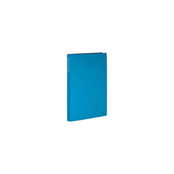 セキセイ フォトアルバム(高透明)(KG・ポストカードサイズ80枚収容/ブルー) KP-80P-BU