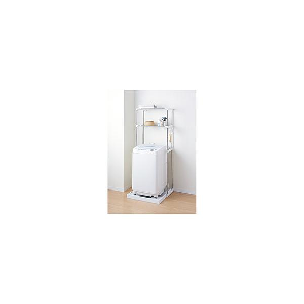 パール金属ステンレス洗濯機ラック2段N-7565