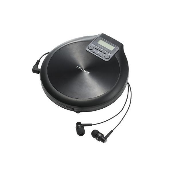 コイズミポータブルCDプレーヤーブラックSAD3904K