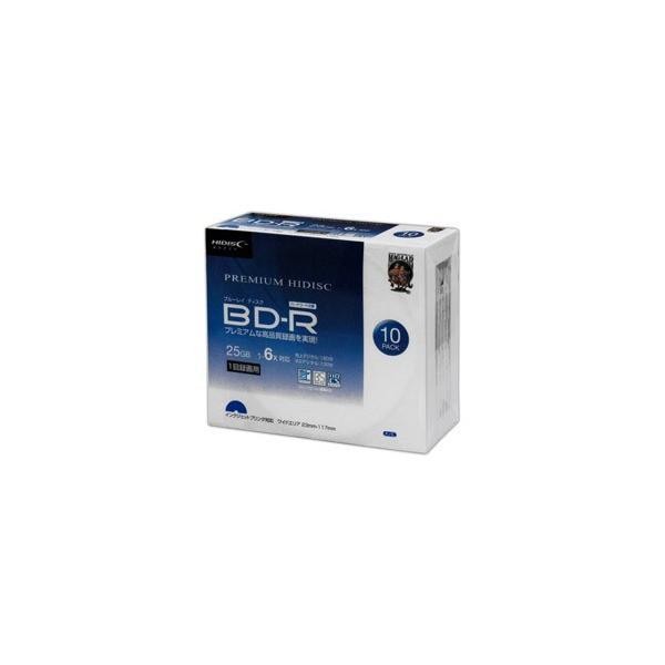 磁気研究所 HDVBR25RP10SC BD-R 6倍速 映像用デジタル放送対応 インクジェットプリンタ対応10枚/5mmスリムケース入り