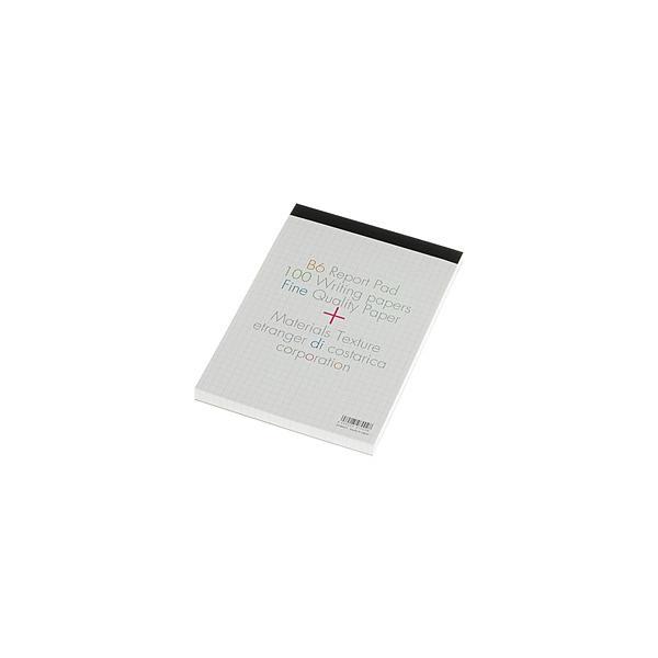 エトランジェ [方眼紙レポート用紙] B6セクションパッド BASIS (B6 /100枚 /5mm方眼 グレー) SP-B6-01
