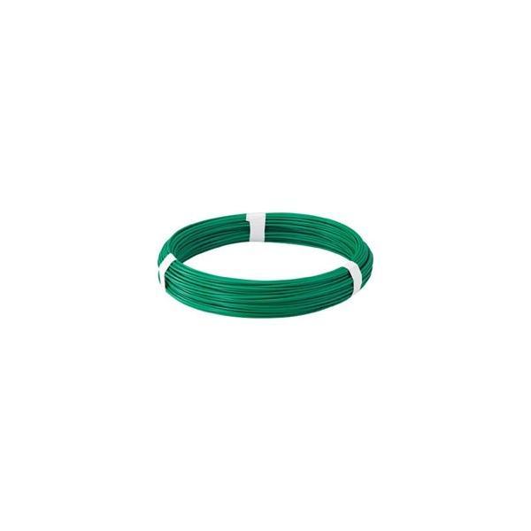 トラスコ中山 カラー針金 ビニール被覆タイプ グリーン 線径3.2mm TCW32GN