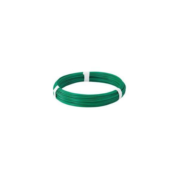 トラスコ中山 カラー針金 ビニール被覆タイプ グリーン 線径2.0mm TCW20GN