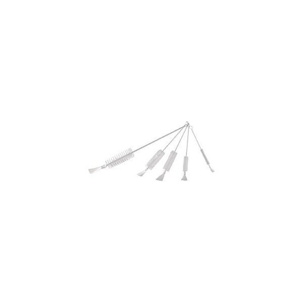 トラスコ中山 TRUSCO 理化学ブラシ 注射器用 ナイロン毛 ステンレス柄20CC用 10本 TBS-S20N-10P
