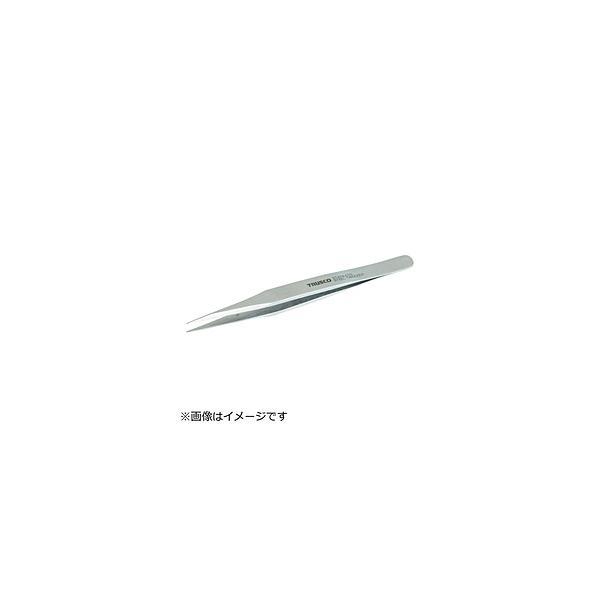 トラスコ中山 TRUSCO 肉厚ステンレス製ピンセット130mm 先端極細タイプ