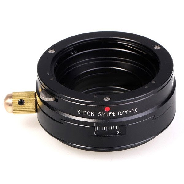 KIPON マウントアダプター SHIFT C/Y-FX【ボディ側:富士フイルムX/レンズ側:ヤシカ・コンタックス】