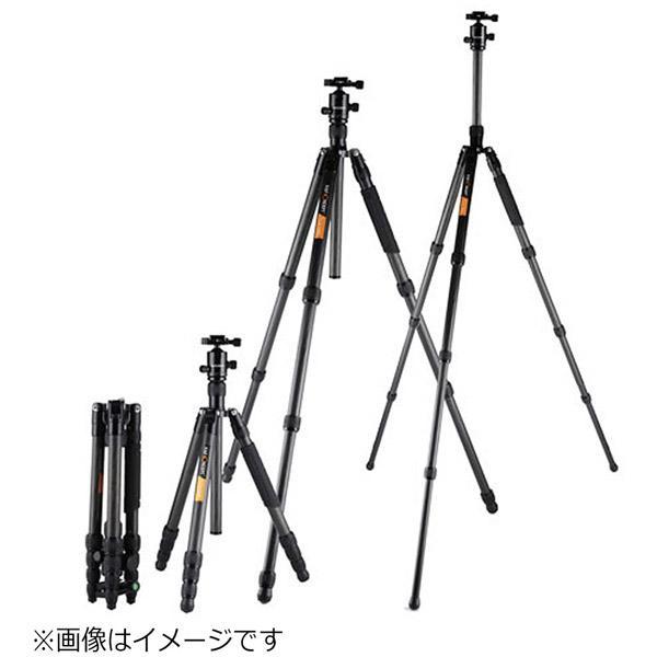 K&FCONCEPT カーボン三脚4段(三脚・一脚兼用) KF-TC3134C ブラック