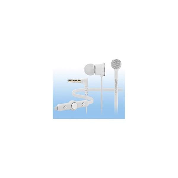 SAEC(サエクコマース) カナル型イヤホン (ホワイト) NITRO-WHT 1.2mコード