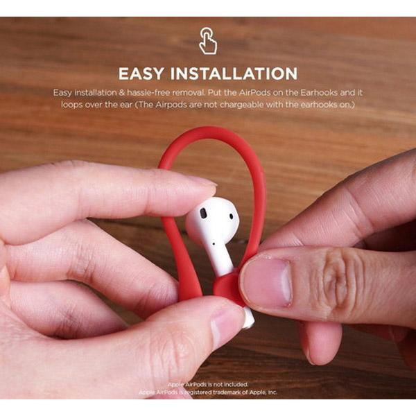 elago elago(エラゴ) Ear Hook(イヤーフック) for AirPods EL_APDCSTPEH_RD Red