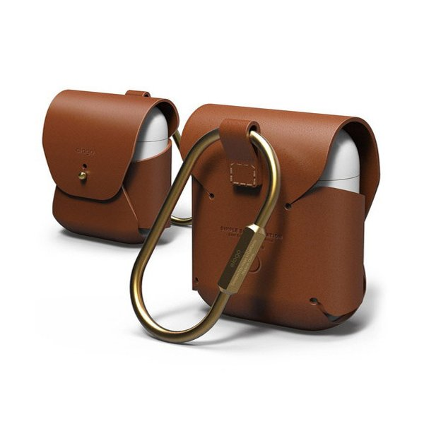 ELAGO AirPods用ケース LEATHERCASE for AirPods EL_APDCSGLLC_BR ブラウン