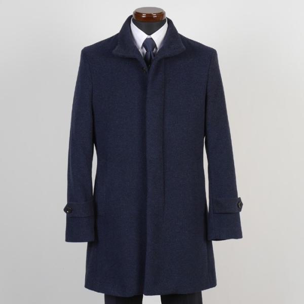 スタンドカラー コート メンズ ビジネスコート Mサイズ ウールSG-M 11000 GC35229|y-souko|02