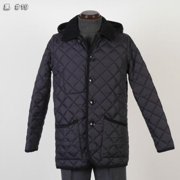 ステンカラー キルティングコート メンズ脱着式フード 軽量中綿 保温素材  全3色 7000 RC1601|y-souko|02