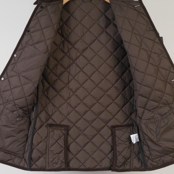 ステンカラー キルティングコート メンズ脱着式フード 軽量中綿 保温素材  全3色 7000 RC1601|y-souko|11