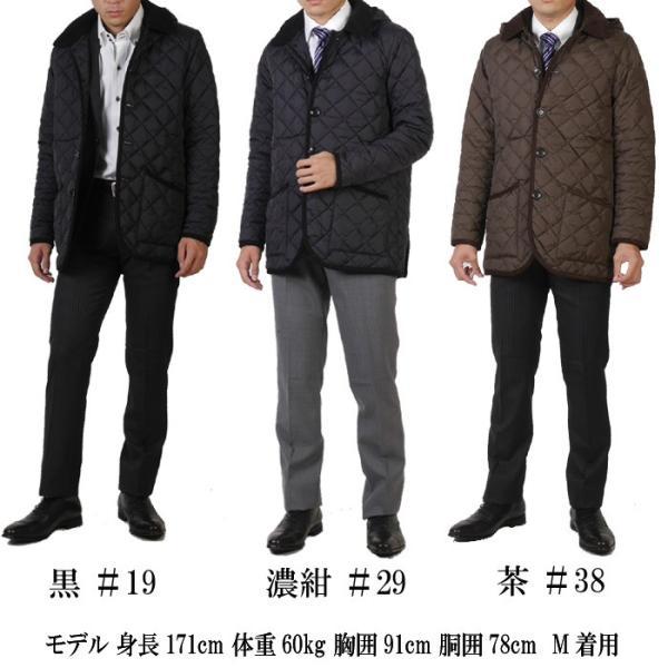 ステンカラー キルティングコート メンズ脱着式フード 軽量中綿 保温素材  全3色 7000 RC1601|y-souko|12