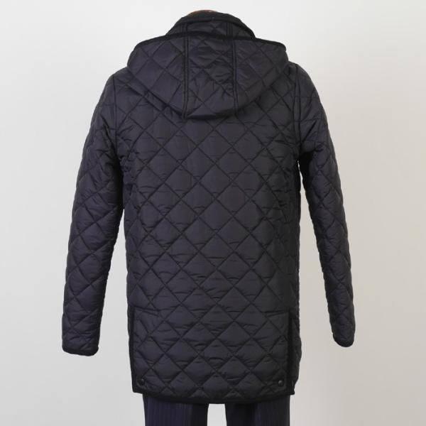 ステンカラー キルティングコート メンズ脱着式フード 軽量中綿 保温素材  全3色 7000 RC1601|y-souko|04