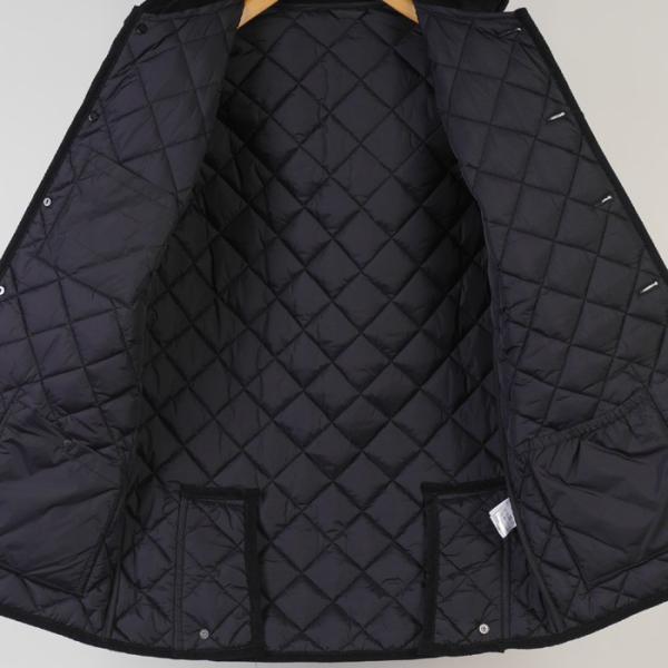 ステンカラー キルティングコート メンズ脱着式フード 軽量中綿 保温素材  全3色 7000 RC1601|y-souko|05