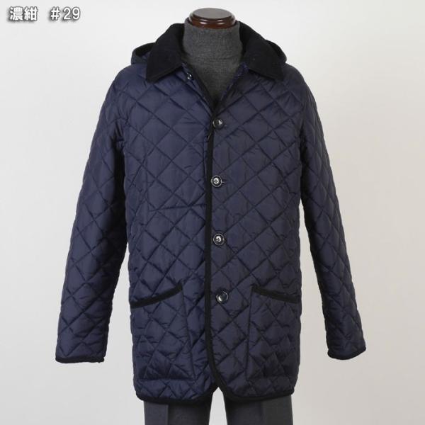 ステンカラー キルティングコート メンズ脱着式フード 軽量中綿 保温素材  全3色 7000 RC1601|y-souko|08