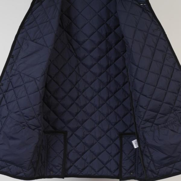 ステンカラー キルティングコート メンズ脱着式フード 軽量中綿 保温素材  全3色 7000 RC1601|y-souko|09