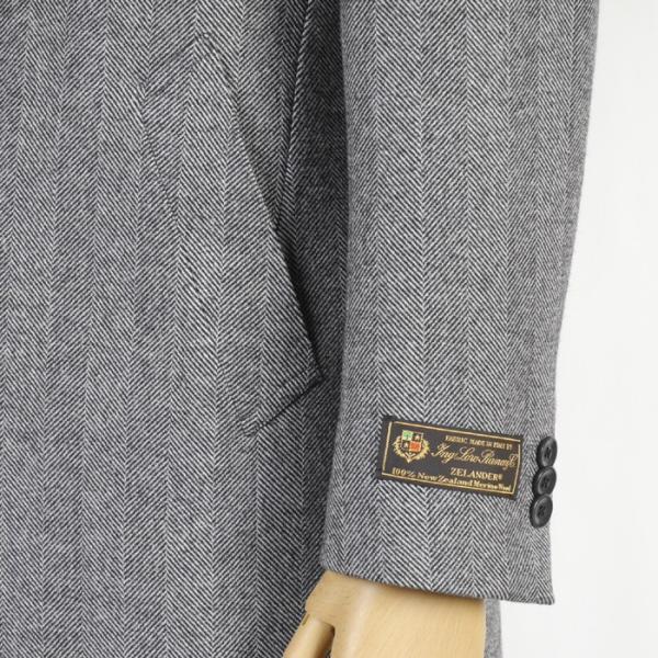 ロロピアーナ イタリア 「Loro Piana」 チェスターコート ビジネスコート メンズ  M L LL 毛100% 全3色 46000 RCi391|y-souko|03
