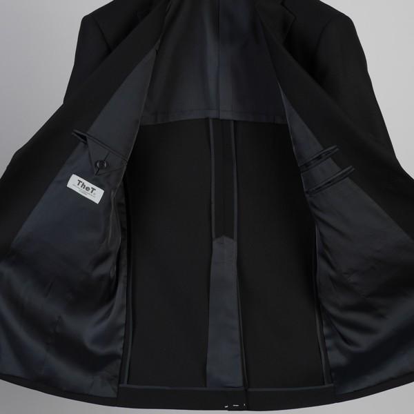 販売終了礼服RF6011−シングル2釦ノータックオールシーズン略礼服!オリジナルブランド「TheT」スリム礼服!安心ウエストアジャスター付き!|y-souko|05