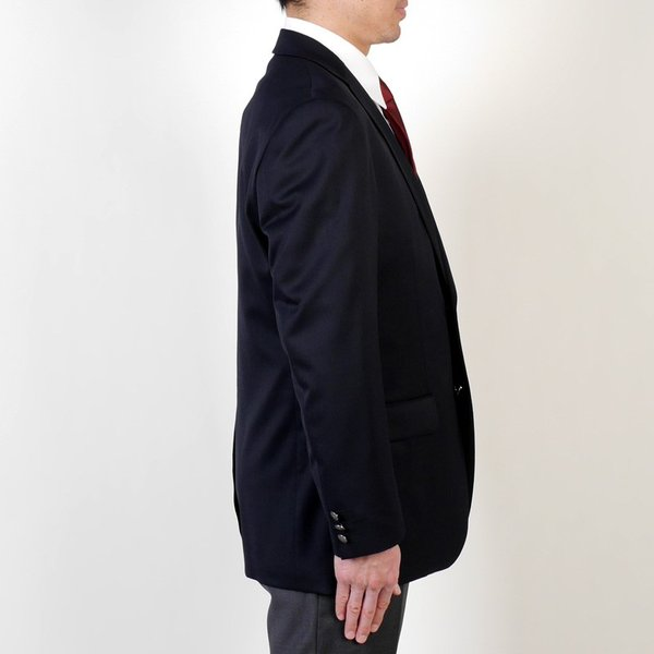 審判用ブレザー 紺ブレザー 剣道審判 正装 昇段祝い お祝い 腕を上げやすい アンコン メンズ 紺ブレザー 銀ボタン|y-souko|06