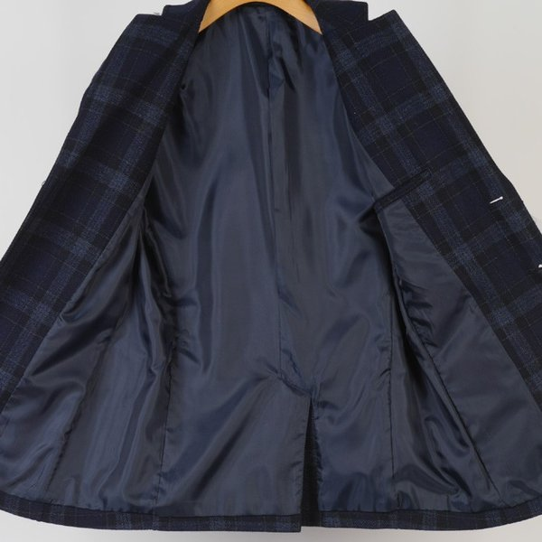 M L LL テーラードジャケット ウール メンズ<br>良質起毛 タータンチェック 全3色 9000 RJ6001|y-souko|05