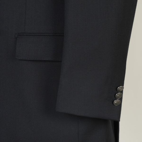 ジャケットRJ8202−濃紺無地ダブル4釦ジャケットストレッチ素材 高級メタル 銀 釦 紺ブレザー|y-souko|03