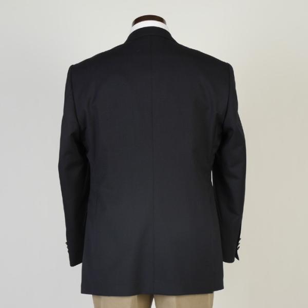 ジャケットRJ8202−濃紺無地ダブル4釦ジャケットストレッチ素材 高級メタル 銀 釦 紺ブレザー|y-souko|04